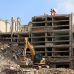 Demolição de um edifício